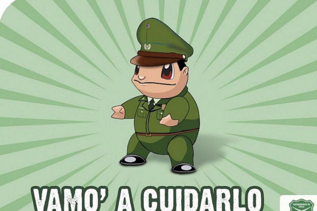 Incluso la policía chilena hizo esto. Foto:vía Twitter. Imagen Por: