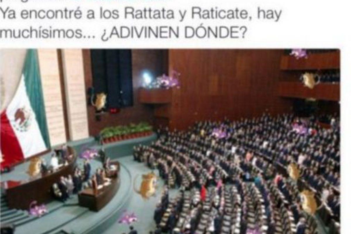 Por supuesto, en el Congreso (y no solo mexicano). Foto:vía Twitter. Imagen Por: