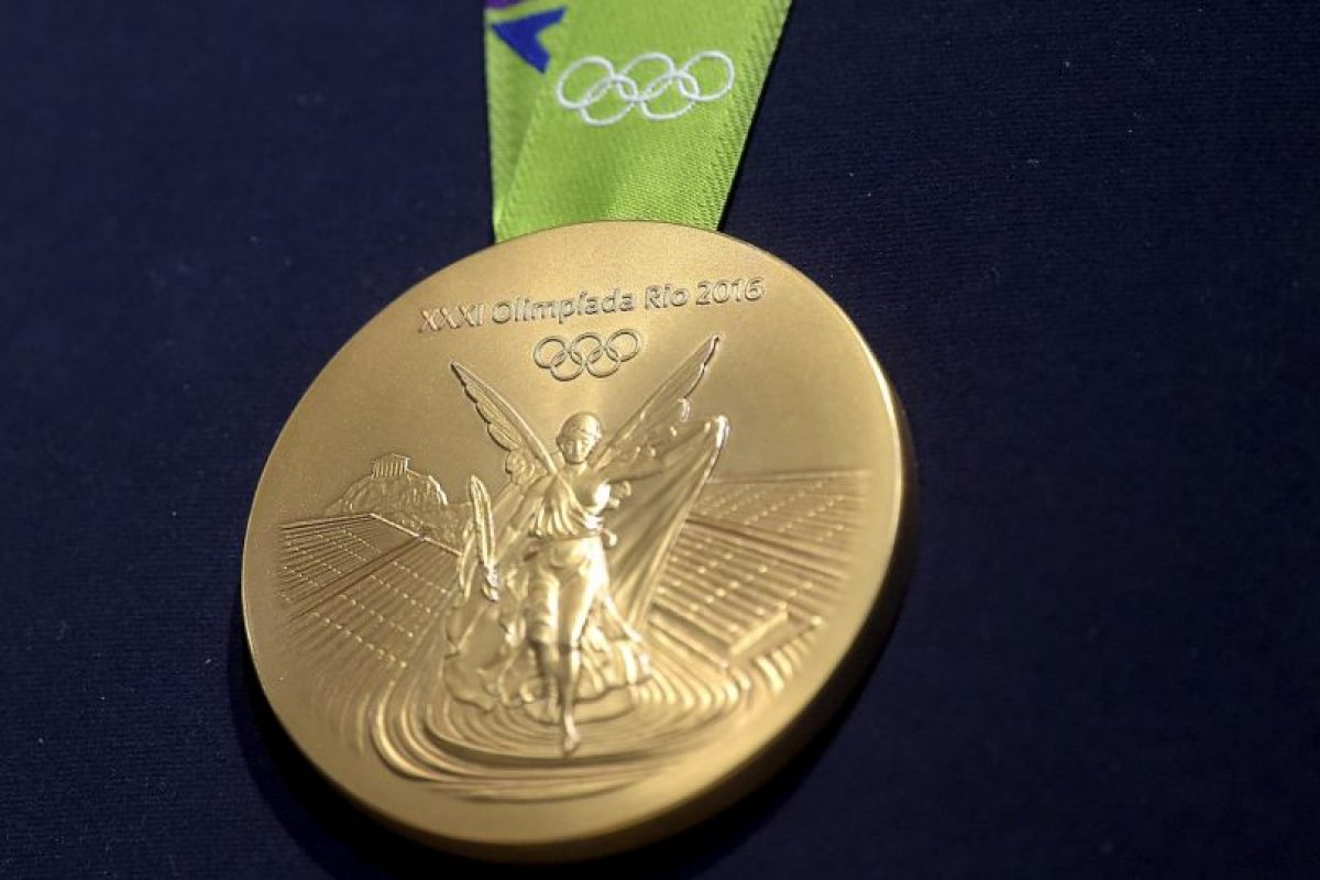 n la otra cara de la medalla está la imagen de la diosa Nike y el estadio Panathinaiko con la Acrópolis de fondo L Foto:Getty Images. Imagen Por:
