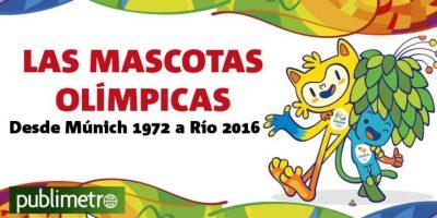 Infografía: las mascotas olímpicas, desde Múnich 1972 a Río 2016
