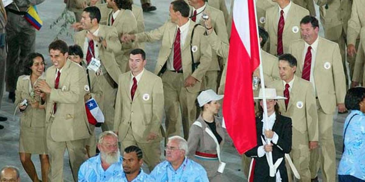 Los últimos abanderados de Chile en los Juegos