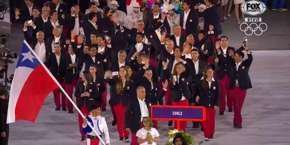 Con una impecable Erika Olivera, Chile desfiló en la ceremonia inaugural de Río