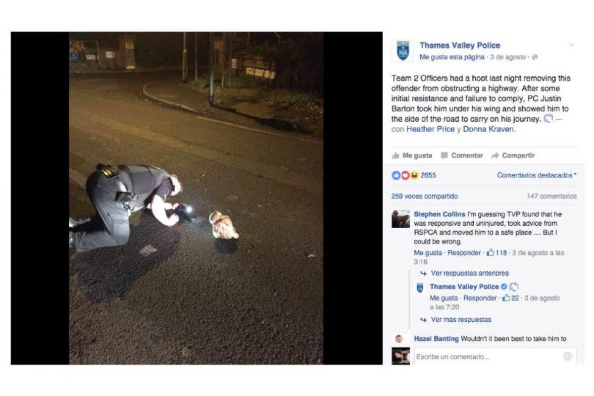 Así lo anunció la policía local en su cuenta. Foto:Facebook. Imagen Por: