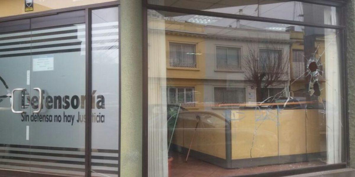 Desconocidos atacaron la Defensoría Penal Pública de La Araucanía