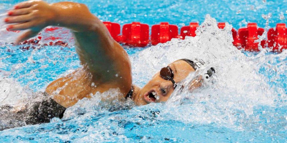 Kristel Köbrich calentó motores en los 400 metros libres de Río
