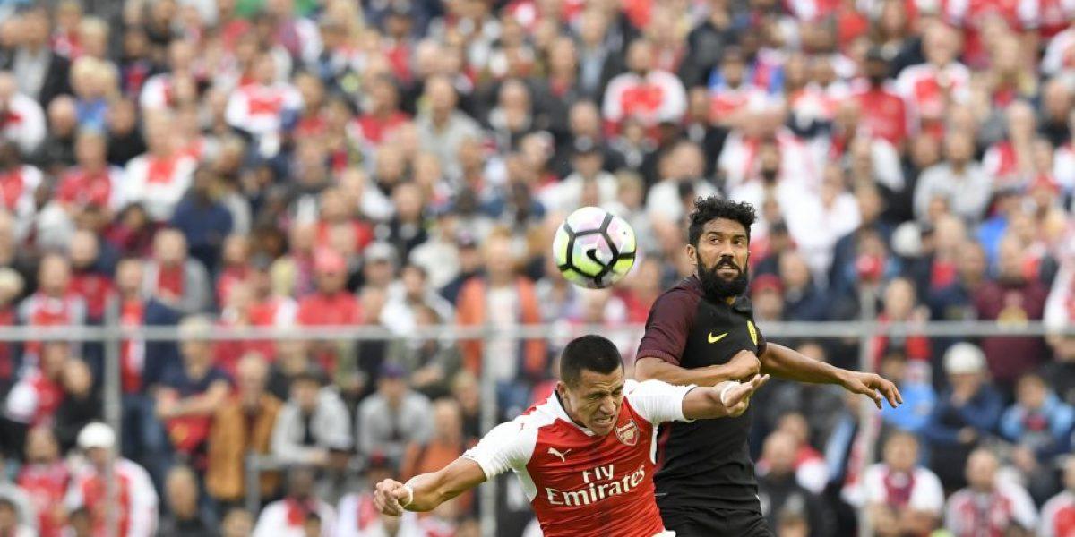 Alexis Sánchez volvió a las canchas en victoria del Arsenal sobre el City de Guardiola