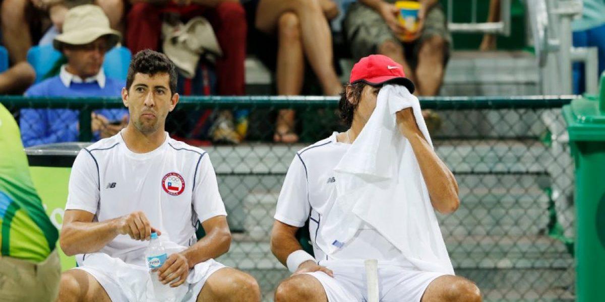 Peralta y Podlipnik tuvieron un paso de 48 minutos en el dobles olímpico de Río