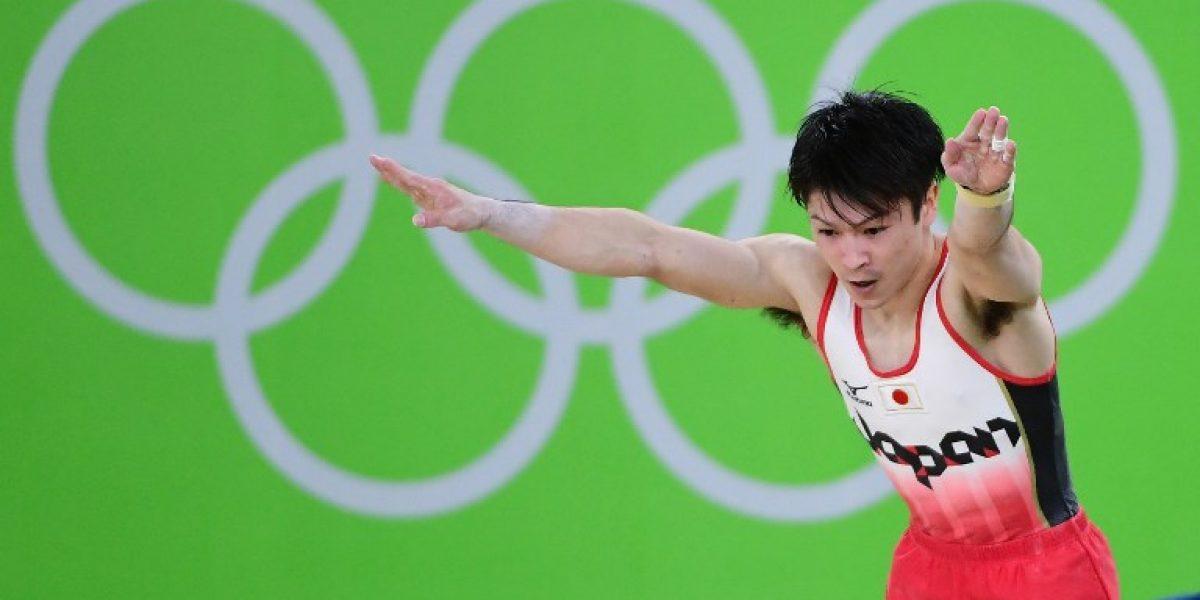 Japón da la sorpresa y se queda con el oro en la gimnasia masculina por equipos