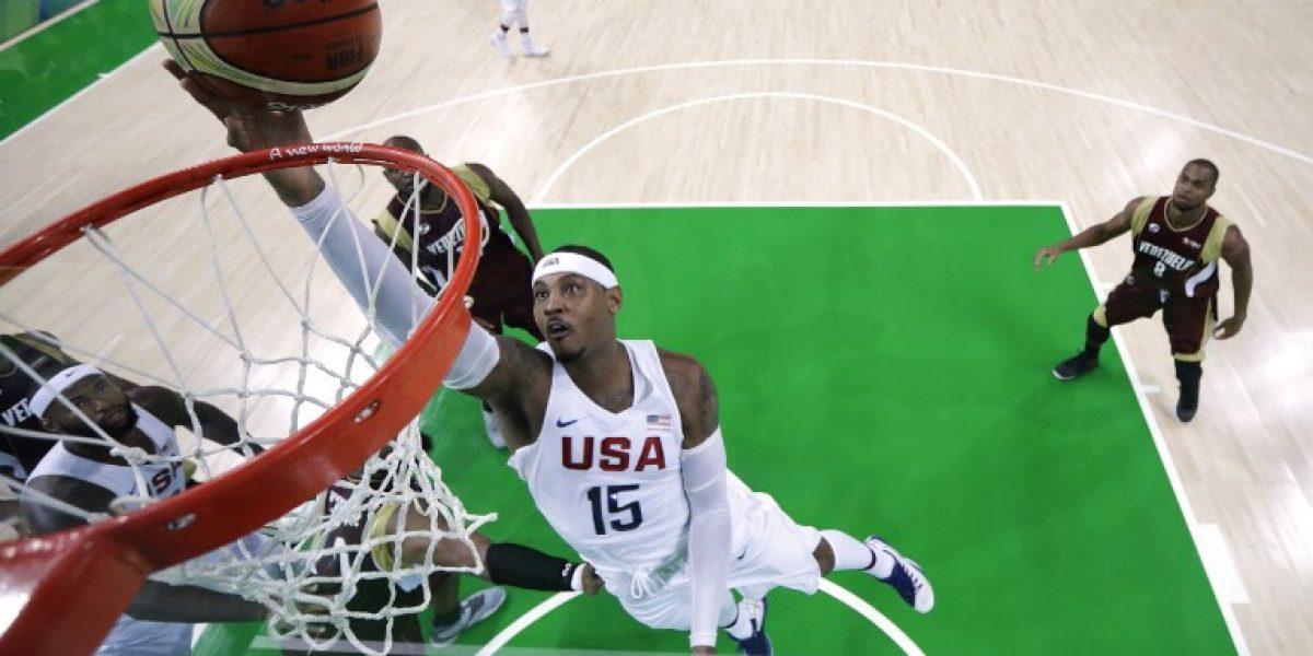 Estados Unidos apabulla a Venezuela y sigue triunfante en el básquetbol olímpico