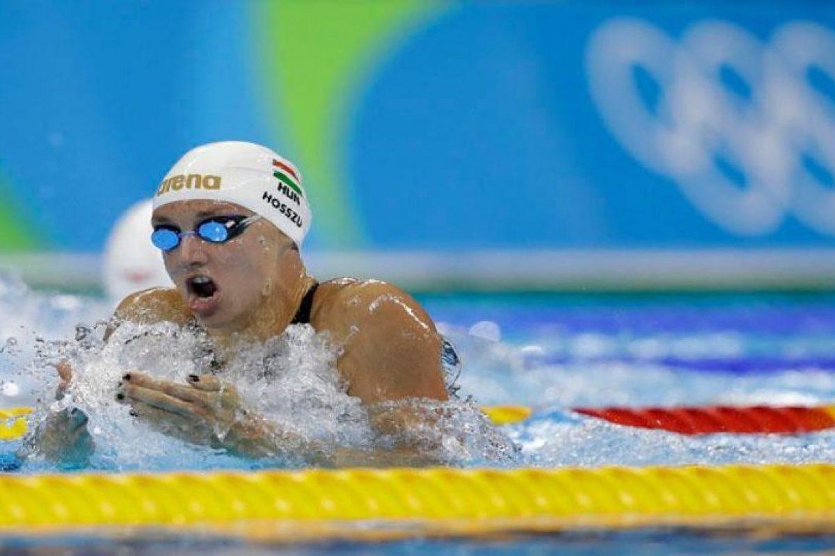 Katinka Hosszu impuso su segundo réord olímpico en las eliminatorias de 200 metros de nado combinado. Foto:Getty Images. Imagen Por: