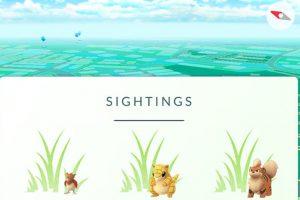 Según indican los que ya tienen el sistema activo, la nueva opción Sightings muestra los pokémon en el área general en la que estamos poniendo tras ellos un icono de hierba. Foto:Niantic/Nintendo. Imagen Por: