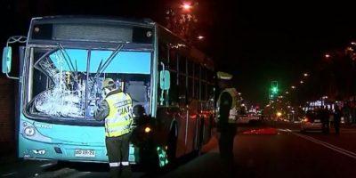 Bus del Transantiago protagonizó fatal atropello en Santiago Centro