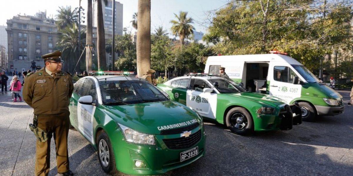Providencia: accidente de tránsito dejó a carabinero de la escolta presidencial lesionado