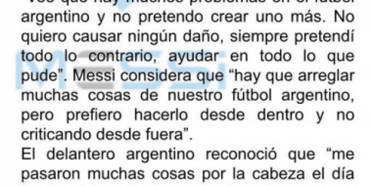 Messi vuelve a la selección argentina: