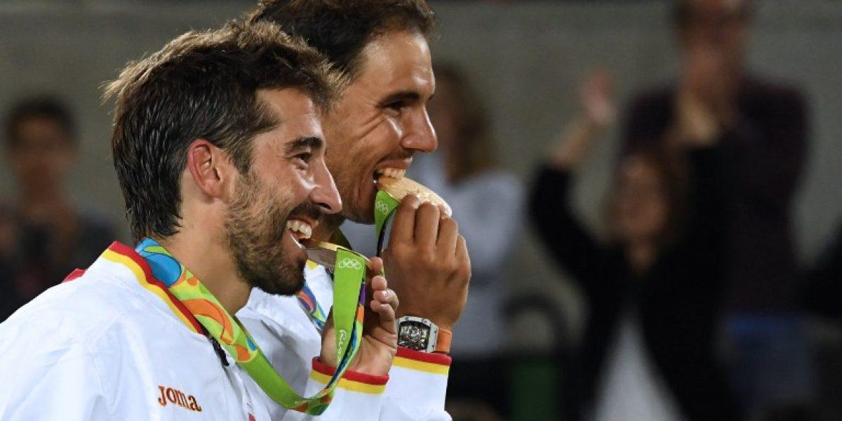 Rafael Nadal consigue oro en el dobles y aguarda por Del Potro en las semis individuales