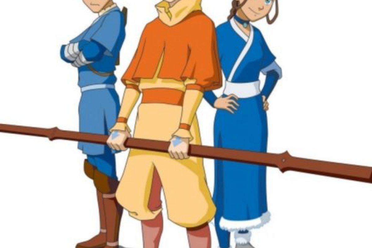 """Aang se veía así en la versión animada de """"El último maestro del aire"""". Foto:vía Nickelodeon. Imagen Por:"""