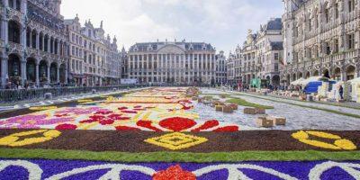 Japón protagoniza el vigésimo tapiz floral en la Grand Place de Bruselas