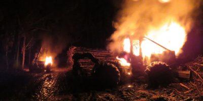 Siete detenidos dejó operativo policial tras ataque incendiario en Cañete