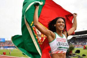 Patrícia Mamona – Atleta portuguesa, ha sido campeona de triple salto con un apellido más que sugerente. Foto:Getty Images. Imagen Por: