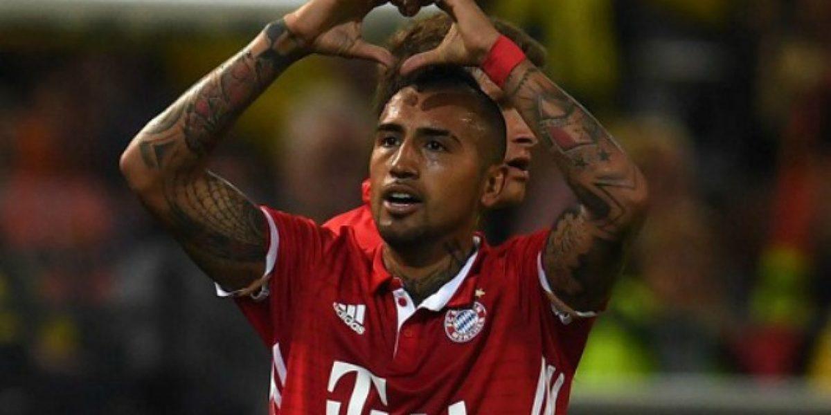 Video: El gol de Vidal que inició el triunfo del Bayern en la Supercopa alemana