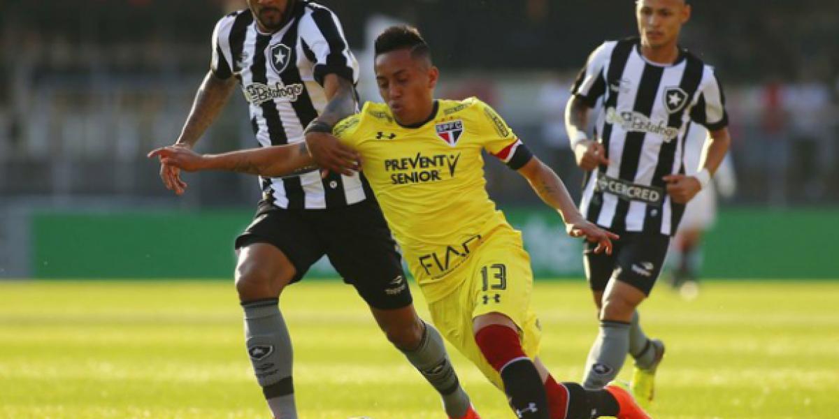 Duelo de chilenos en Brasil: Botafogo de Canales venció al Sao Paulo de Mena