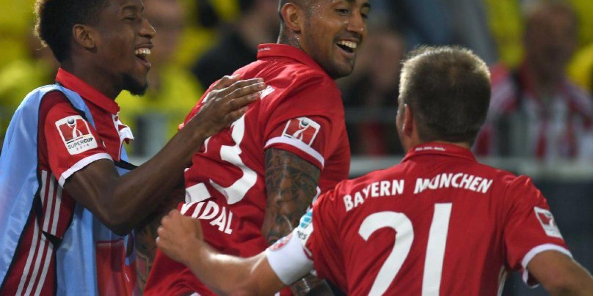 Vidal fue protagonista de la coronación del Bayern en la Supercopa de Alemania