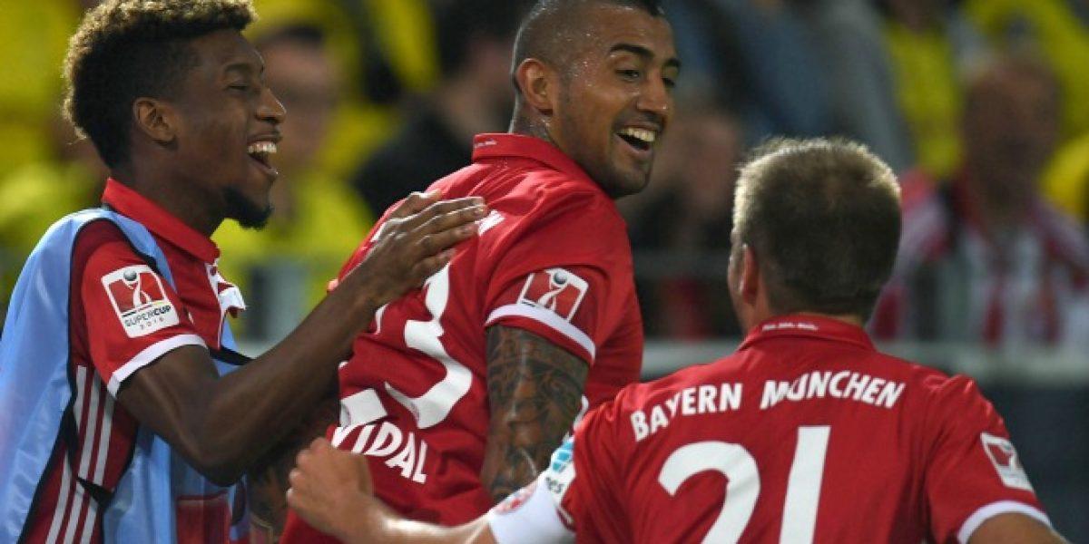 Minuto a minuto: Con gol de Vidal Bayern Munich gritó campeón de la Supercopa alemana