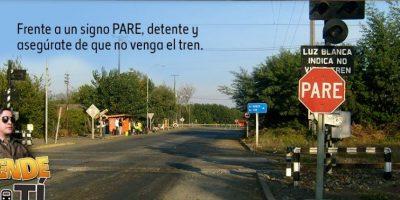 Cabo Huaiquimil es el rostro de la nueva campaña de EFE para prevenir accidentes en las vías férreas