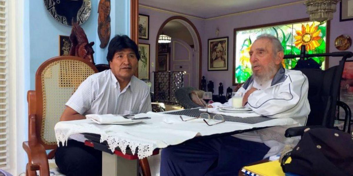 Evo Morales se reúne en La Habana con un Fidel Castro