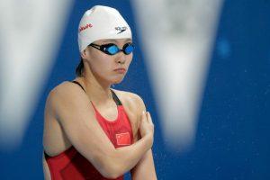 Fu Yuanhui confesó que compitió un día después de que tuviera su periodo Foto:Getty Images. Imagen Por: