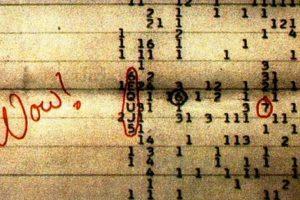 """Foto:El registro original de la señal, con la anotación """"wow"""" del profesor Jerry Ehman.. Imagen Por:"""