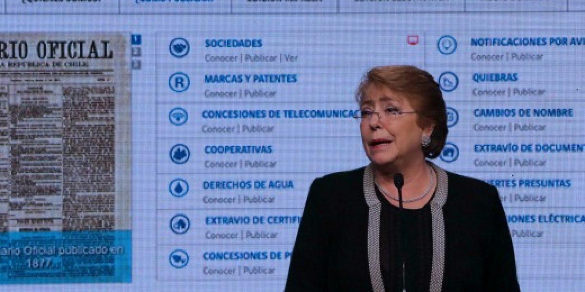 Presidenta Bachelet lanzó el Diario Oficial online gratuito