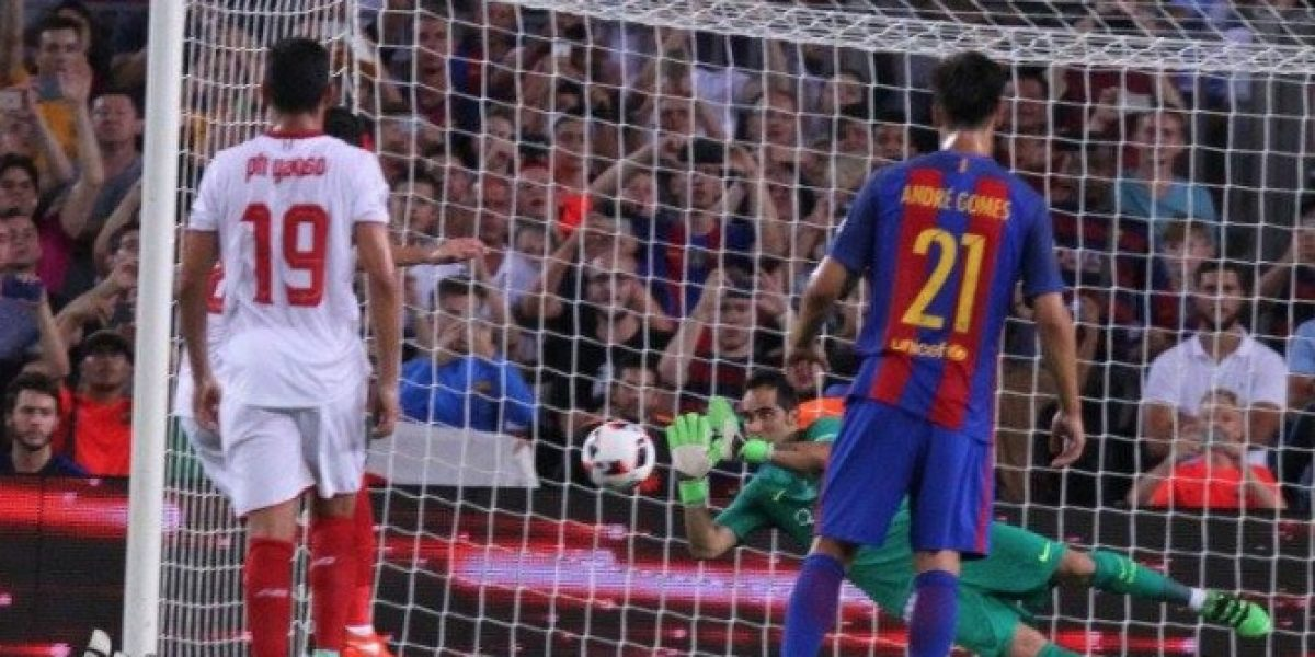 Minuto a minuto: Con Bravo como figura Barcelona se coronó campeón de la Supercopa ante Sevilla