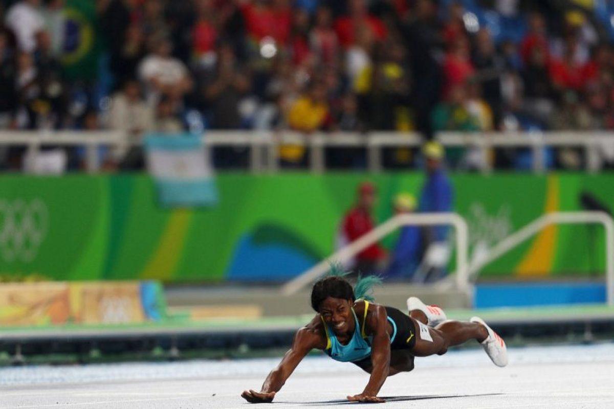 Su forma poca ortodoxa de ganar el oro se volvió viral. Foto:Getty Images. Imagen Por: