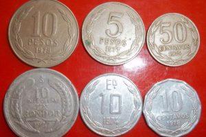 Peso, centavo, cóndor y escudo Foto:Reproducción. Imagen Por: