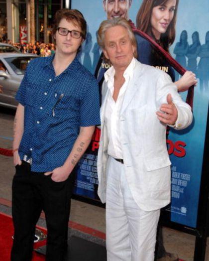 Con su padre, en 2009.