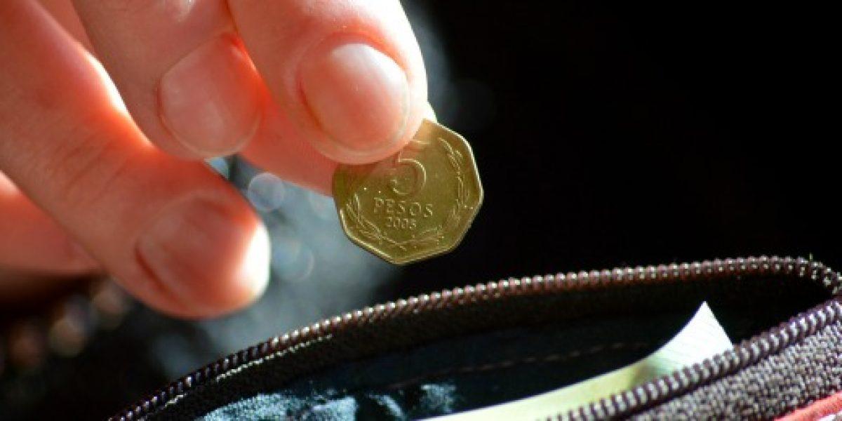 Senado aprobó eliminación de las monedas de $1 y $5