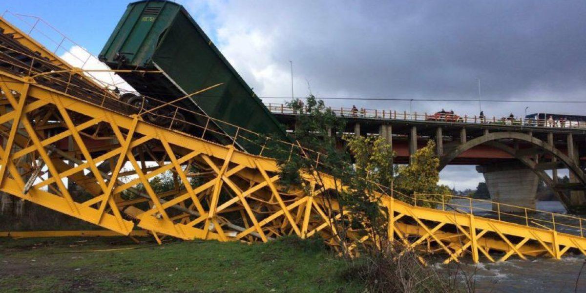 Maquinista de tren que se cayó a río Toltén:
