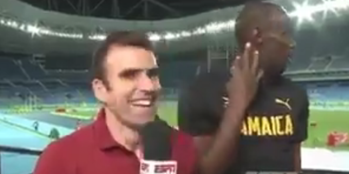 Un showman: Usain Bolt se burló de un periodista antes de una entrevista en Río