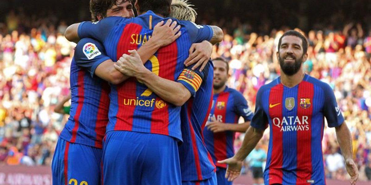 Goleada para la despedida: Barcelona con Bravo en el arco aplastó al Betis de Gutiérrez