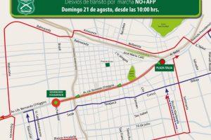 La marcha está convocada para las 11:00 horas en el sector de Plaza Baquedano. Foto:Reproducción Carabineros de Chile. Imagen Por: