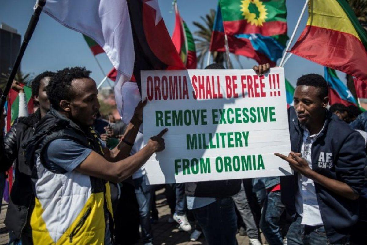 Su protesta fue en favor de la región de Oromia, en Etiopía, de donde es originario Foto:Getty Images. Imagen Por: