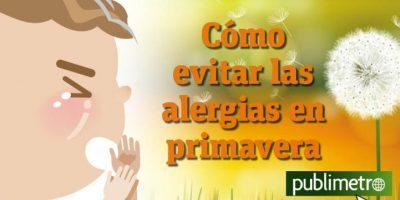 Infografía: cómo evitar las alergias en primavera
