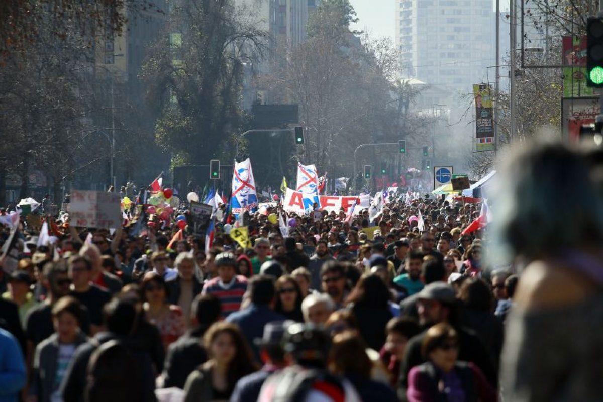 Marcha contra las AFP Foto:Agencia Uno. Imagen Por: