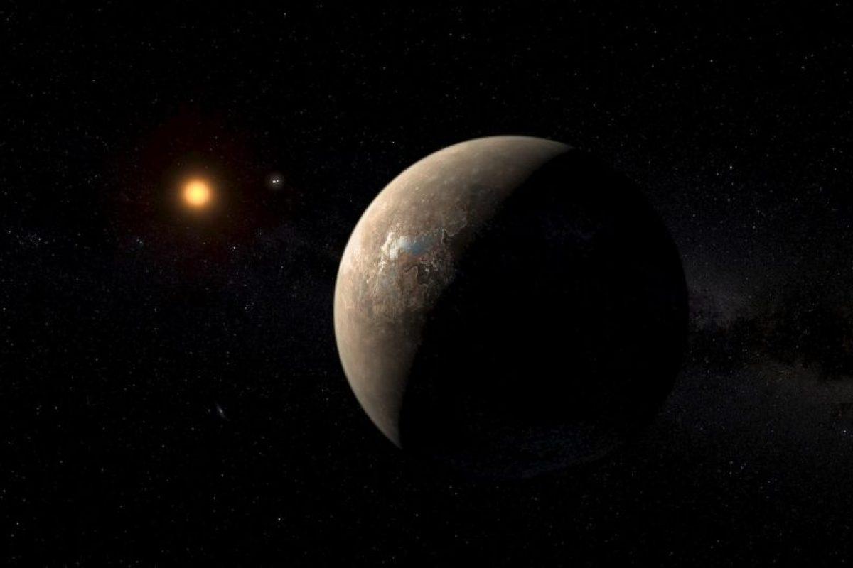 Esta ilustración muestra cómo se vería el planeta y su distancia con su sol Foto:Facebook.com/palereddot. Imagen Por:
