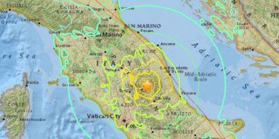 Video: Así se vivió el momento del fuerte terremoto en Italia