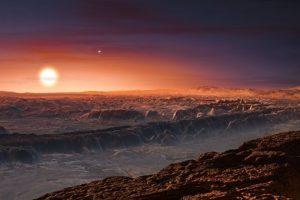 """Esta ilustración muestra cómo se vería la superficie de """"Próxima b"""" Foto:Facebook.com/palereddot. Imagen Por:"""