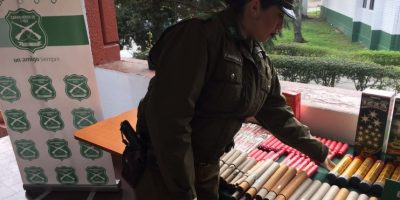 Un detenido tras operativo que incautó fuegos artificiales destinados al Clásico Universitario