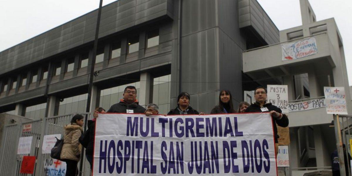 Trabajadores del Hospital San Juan de Dios bajaron el paro