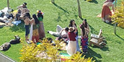 Comienza inédito picnic en topless en Valparaíso: mira las primeras imágenes